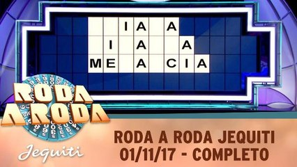 Roda a Roda Jequiti - 01.11.17 - Completo