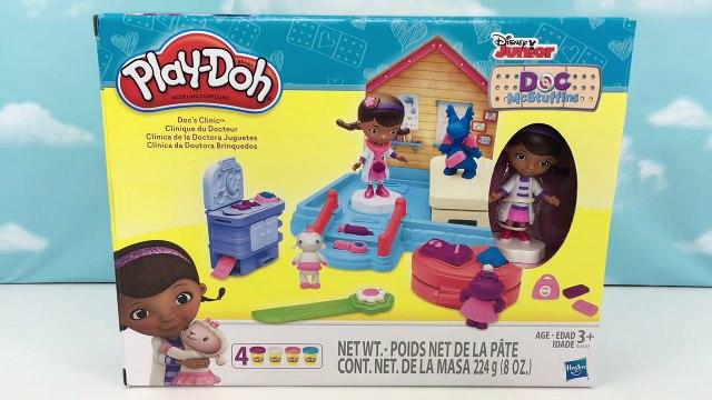 Play Doh Doc McStuffins Docs Clinic Playset Disney Jr Doc McStuffins Lambie, Stuffy & Hallie