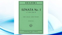 GET PDF Brahms, Johannes - Sonata No. 1 in e minor Op. 38 for Cello and Piano - by Rose - International FREE