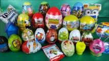 Surprise eggs Disney figures Toy Story Thomas & Friends Kinder Moshi Monsiters E