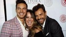 Kate del Castillo bien apretadita con Eugenio Derbez y Vadhir Derbez