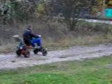 Proto tracteur tondeuse avec moteur de 51 !