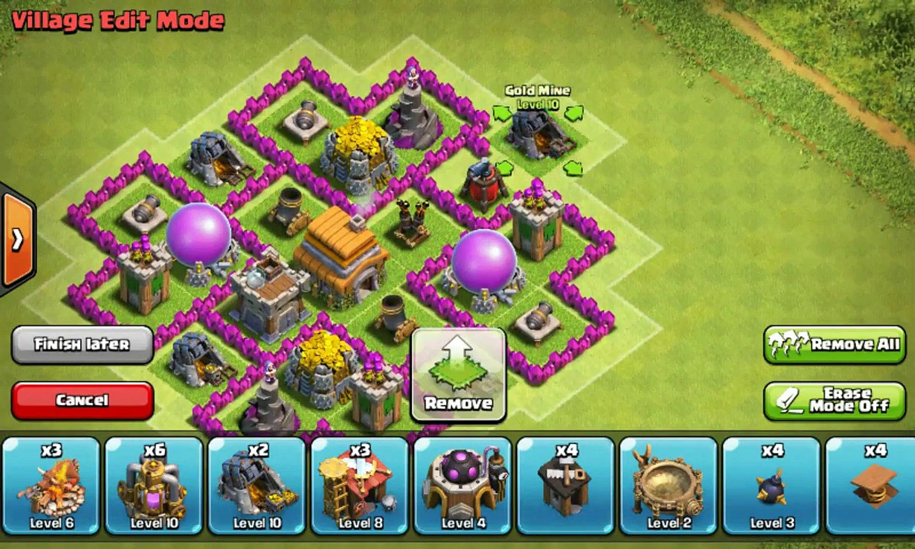 Clash Of Clans Town Hall 6 Defense Coc Th6 Hybrid Base Layout Defense Strategi