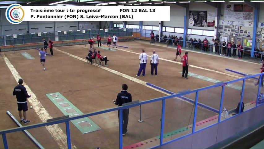 Troisième tour, tir progressif, Club Elite Masculin J2, Fontaine contre Balaruc-les-Bains, novembre 2017