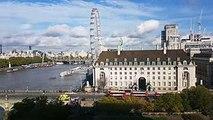London Eye and Westminster Bridge Timelapse 25 October 2017