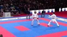 Davy Dona vs Oualid Bouabaoub. Bronze Male Kumite -75kg. 21st WKF World Karate Championships new