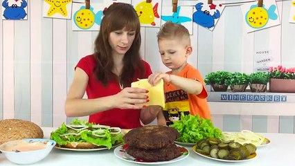 Готовим и пробуем с ВАСИЛИЕМ огромный гамбургер 3 КГ. БУРГЕР ЧЕЛЛЕНДЖ Burger Challenge. 4К