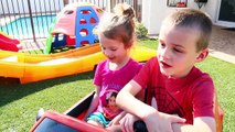 McDonalds DRIVE THRU vs Taco Bell PRANKS Bad Neighbors IRL Kids Power Wheels Cars DisneyCarToys