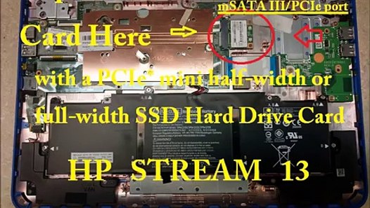 How To UPGRADE HP STREAM Hard Drive 11 13 14 11-d 11-p 11-r 13-C 14-Z X360  Pro G3 G2 Touch SSD RAM – Видео Dailymotion