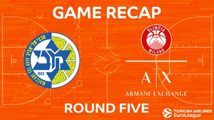 EuroLeague 2017-18 Highlights Regular Season Round 5 video: Maccabi 79-68 AX Milan