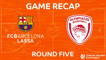 EuroLeague 2017-18 Highlights Regular Season Round 5 video: Barcelona 73-51 Olympiacos