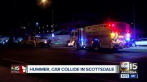 Hummer and car collide in Scottsdale