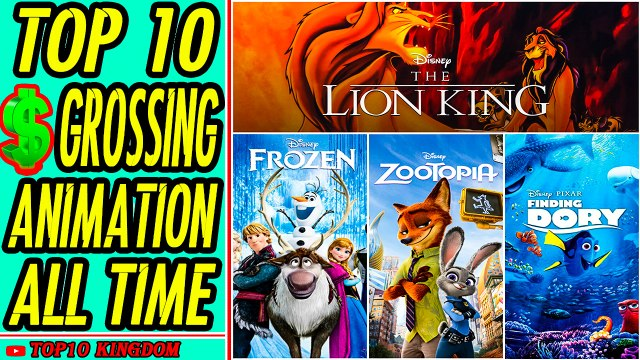 TOP 10 Highest Grossing Animation Movies of All Time (Box Office)