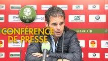 Conférence de presse US Orléans - FC Sochaux-Montbéliard (3-3) : Didier OLLE-NICOLLE (USO) - Peter ZEIDLER (FCSM) - 2017/2018