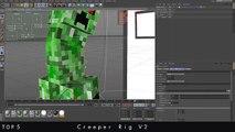 TOP 5 ➽ Cinema 4D Minecraft Rigs [FREE] |German