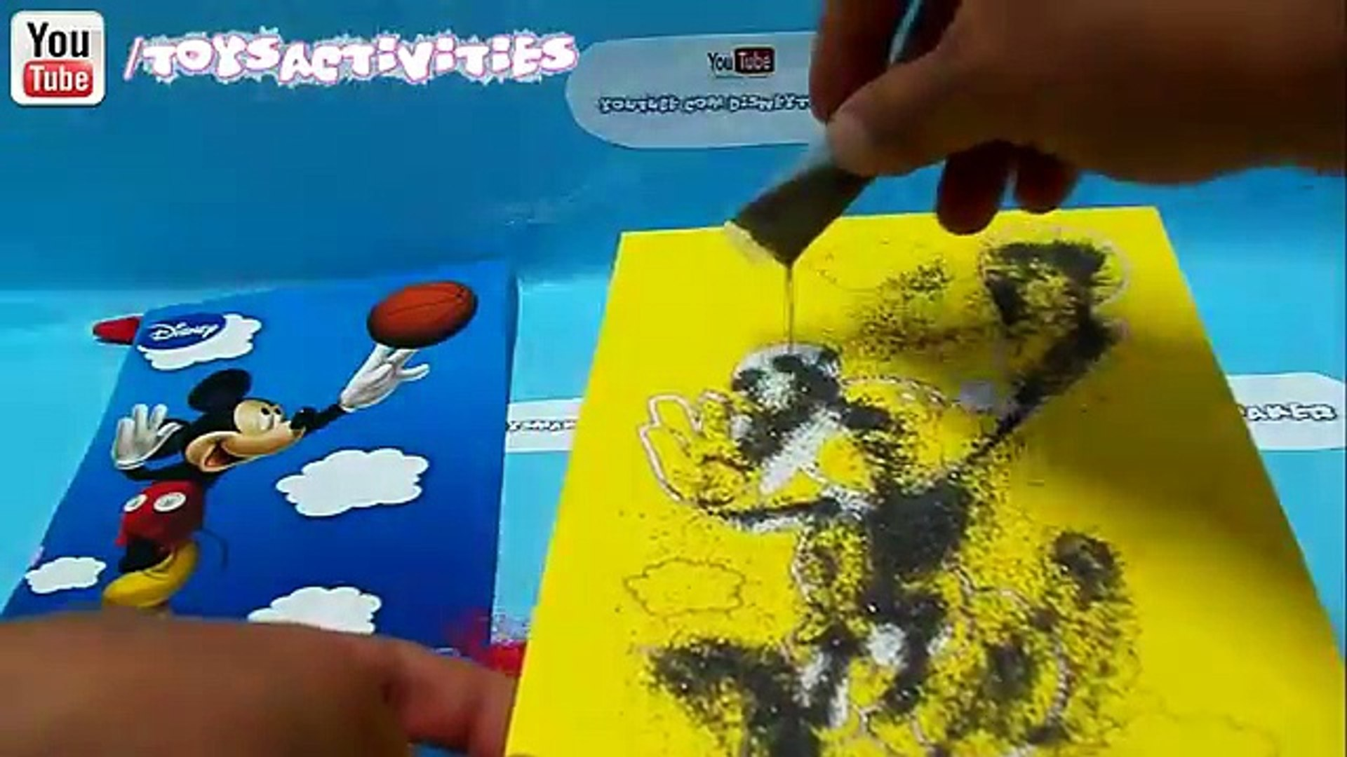 Mickey Mouse Clubhouse Kids Movie Sand Painting Preschool Activity