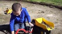 Bruder Construction Toy Trucks Collection in Action - Excavators, Dump Trucks, Loaders, Rollerp