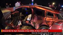 Düzce'de İki Ayrı Kazada 2 Kişi Öldü, 8 Kişi Yaralandı