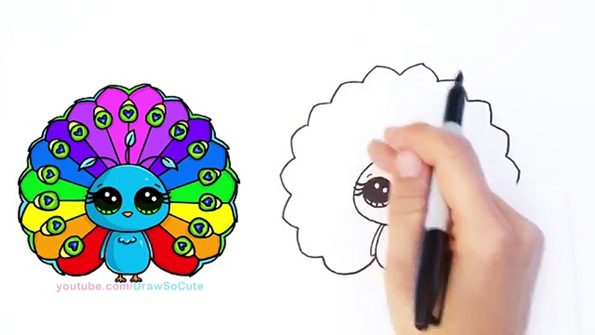 how to draw cartoon peacock cute step by step video dailymotion how to draw cartoon peacock cute step