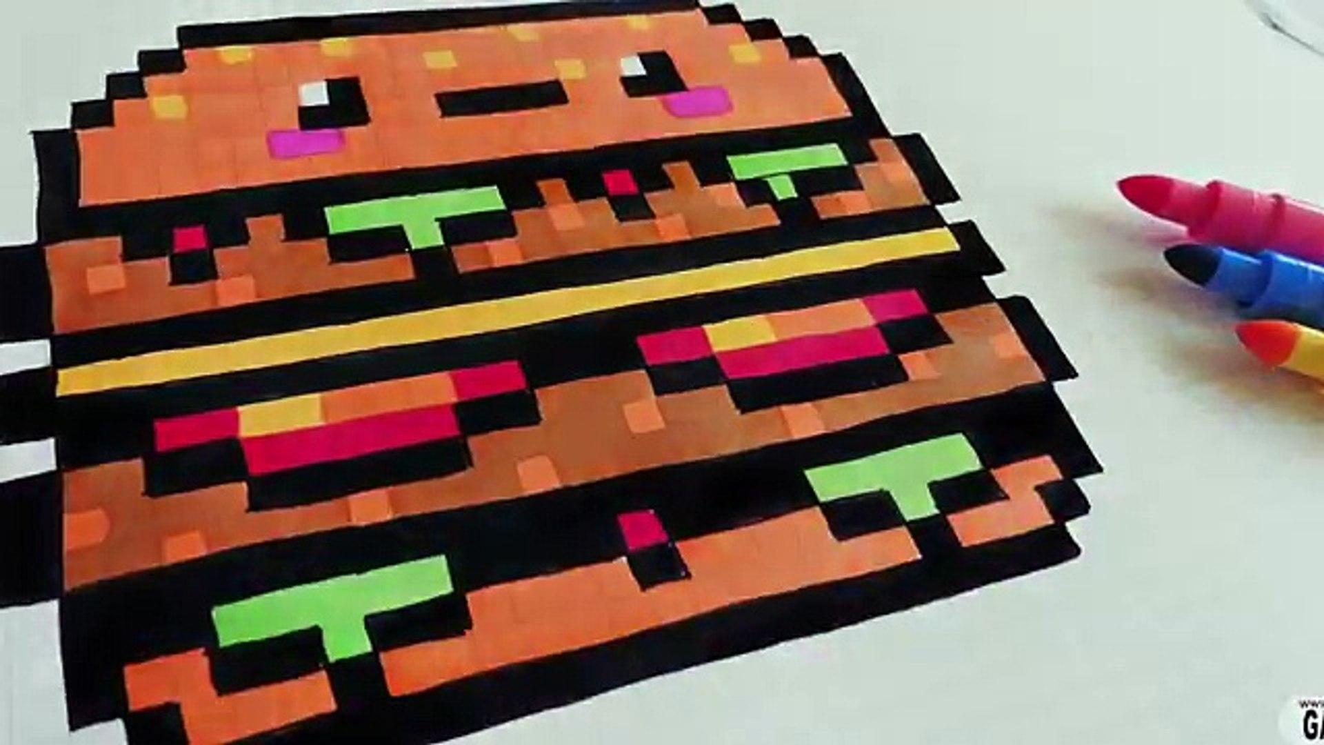 Handmade Pixel Art How To Draw Kawaii Big Mac Pixelart