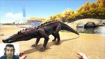ARK Survival Evolved Kaprosuchus VS Carbonemys Batalla dinosaurios arena gameplay español