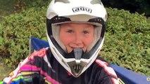 Backyard Mini Bike Racing Day! crf 110 klx 50 pit bike track