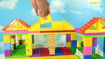 Peppa Pig Blocks Mega House LEGO Creations Sets With Masha And The Bear Legos Toys For Kids #16
