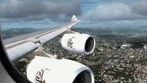 ✈ |FSX| Emirates A340-500 Approach to Nice Côte dAzur ✈