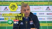 Conférence de presse AS Saint-Etienne - Olympique Lyonnais (0-5) : Oscar GARCIA (ASSE) - Bruno GENESIO (OL) / 2017-18