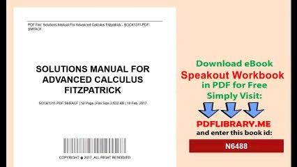 Advanced Calculus Solutions Pdf