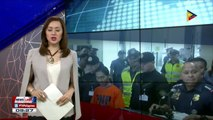 Captured Indonesian terrorist presented to newsmen