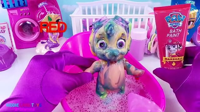 Best Learn Colors Video Bath Paint Mickey Mouse Ice Cream Stand Paw Patrol PJ Masks Shimmer & Shine