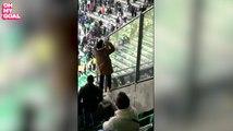 Un supporter de l'ASSE envoie une bouteille remplie d'urine sur les fans de l'OL