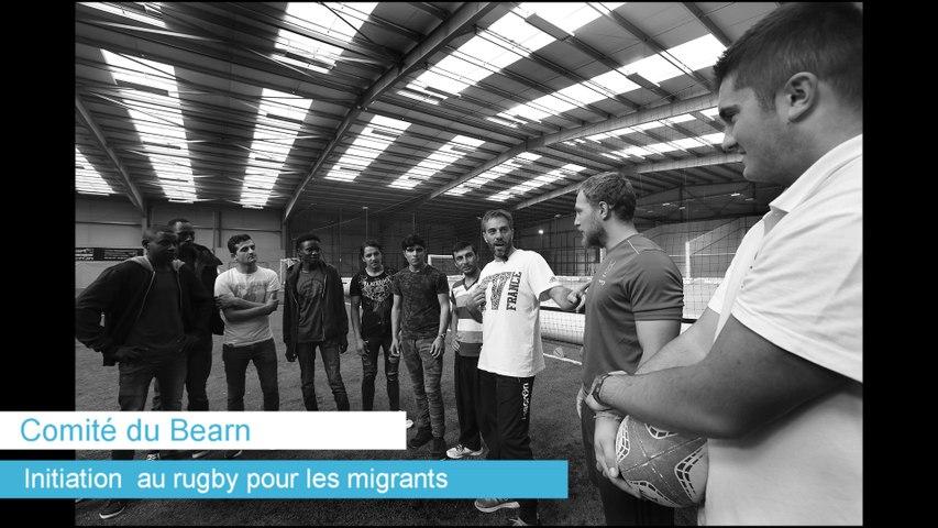 Une toute première initiation au rugby pour les réfugiés