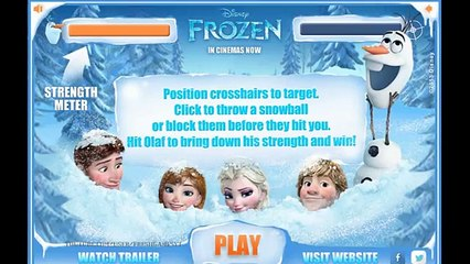 Frozen - Funny Snowball Game with Olaf