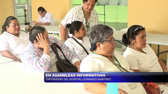 Enfermeras del Hospital Leonardo Martínez continúan en asambleas informativas
