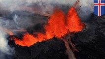 Gunung api Islandia meletus 2017 - TomoNews