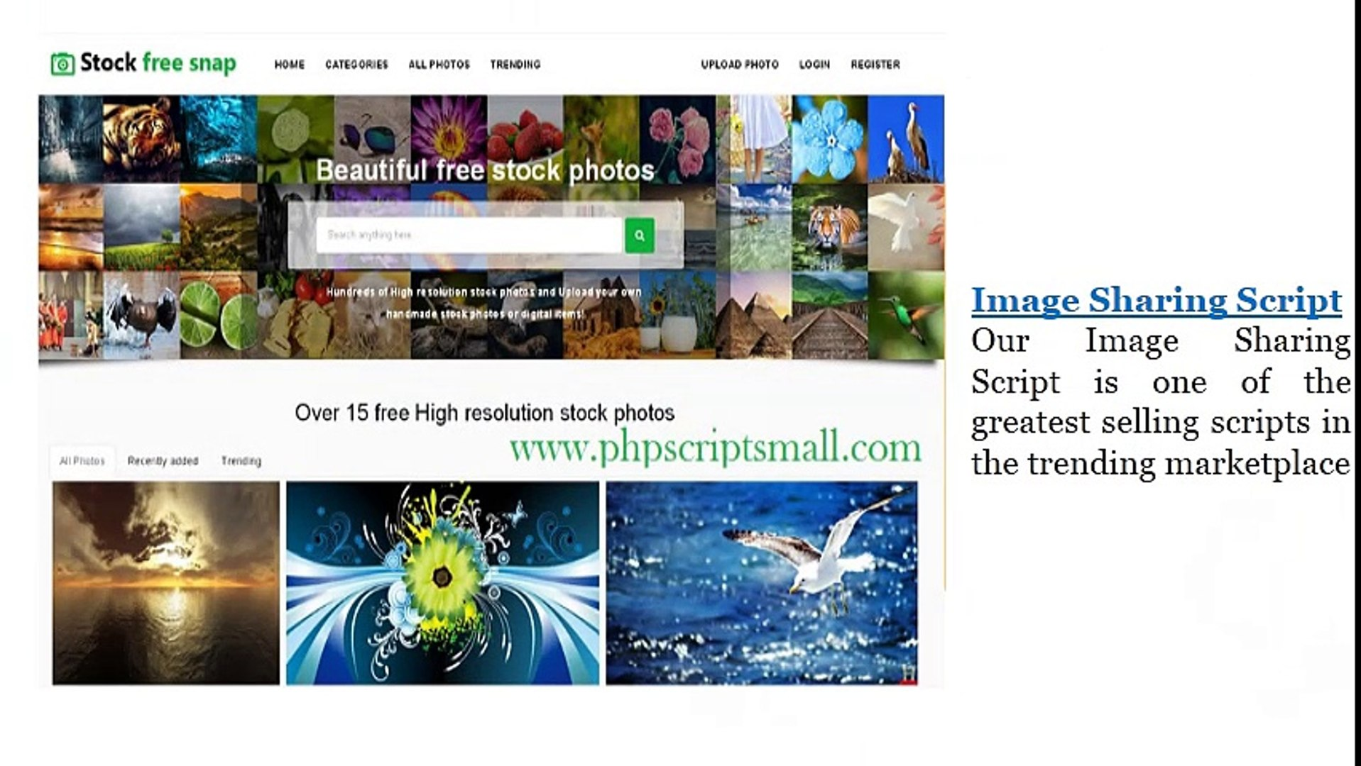 (Phpscriptsmall)Php Image Gallery Script - Image Sharing Script - Image Sharing Clone
