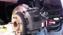 Rear brake pad replacement 2004 - new Mazda 3 disc brakes Mazda3 Install Remove Replace