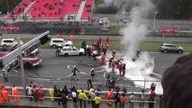 Horrible crash Brno Crash FIA GT Brno Lamborghini Gallardo Super Trofeo LP 560-4 crash .mpg