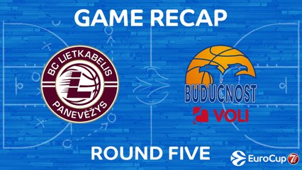 7Days EuroCup Highlights Regular Season, Round 5: Lietkabelis 86-79 Buducnost