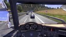 Euro Truck Simulator 2 - Load to Zürich with Scania Topline (Logitech G25 gameplay)