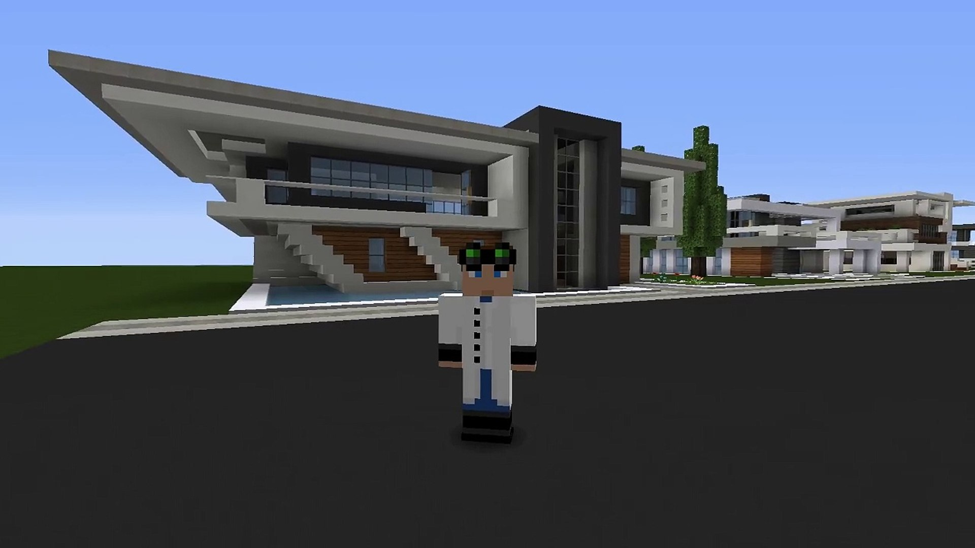 Minecraft Easy Modern House Mansion Tutorial 5 Download 1 8 How To Make Video Dailymotion
