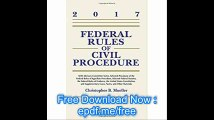 Federal Rules of Civil Procedure, 2017 Statutory Supplement (Supplements)