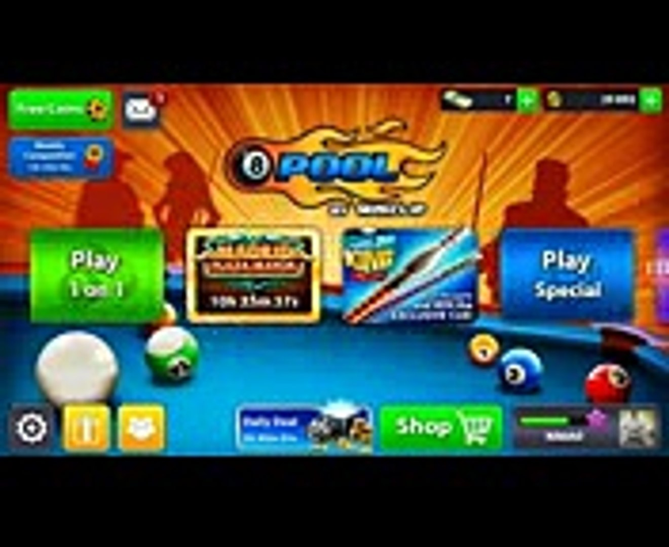 Get 156 cash 30k coins and free vip points 8 ball pool