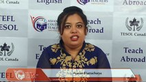 Feedback from Pronita Bhattacharya ITD Kolkata
