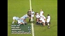 Matias Corral | Argentina scrum shunts back England in the 1995 RWC
