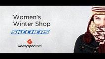 Skechers Kadın Grubu Yeni Koleksiyon Parlak Dış Yüzeyli Kaymaz Tabanlı Kar Botları