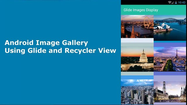 Android Image Gallery Using Glide and Recycler View