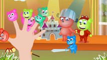 Mega Gummy Bear On The Playground Cowboys Finger Family Nursery Rhymes for kids Toys Fun